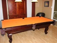 "It is a 3 piece 1"" slate pool table made by United"