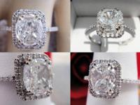 1.25CT Cushion Diamond Pave Engagement Ring EGL
