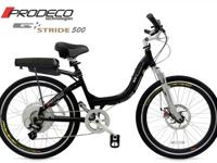 The Stride 500 is an aggressive electric bicycle that