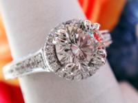 1.29CT Round Brilliant Leo Diamond Scott Kay Engagement