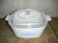 This is Vintage Blue Cornflower Corningware made in the