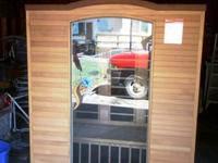 I have a 3 person infrared sauna for trade .