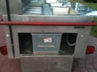 fully contained steam table plus ***3 fryers*** plus
