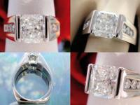 1.31CT Radiant Diamond Engagement Ring GIA Lab