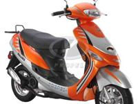 These motor scooters are available in 4 styles. 2