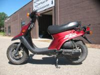 2001 Yamaha Zuma 50 in RedThis popular Zuma is 50cc, 70