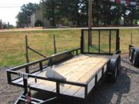 "Hello This is a new 2012 16' x 77"" utility trailer with"