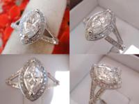 I am selling this beautiful Marquise-cut, Pave-style