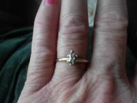 I have a 1/4 carat diamond ring 14 kt gold I am selling