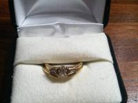 I have a 1/4 carat Emerald cut diamond ring with