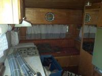 Older but still nice shape 16 feet camper couch makes