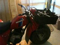 Selling 1984 Honda Atc 200ES Big Red One owner.This is
