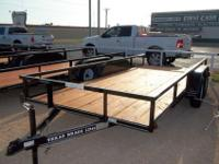 New 16 foot Utility Trailer Tandem axle, 3500 lbs