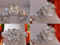 I am selling this very pretty Cushion-cut Diamond