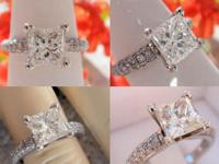 I'm selling this Princess Diamond Pave style Ring. The
