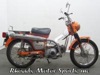 1972 Honda CT90 with 525 Miles.This is a real small