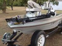 16' Skeeter Bass Boat with a 85hp Suzuki motor. Brand