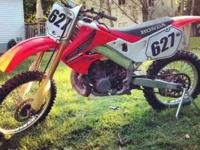 1999 Honda CR250R. Really good condition bike! You