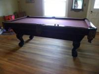 We have a 3.5' X 7' Brunswick pool table, Victorian