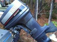 55 horsepower Yamaha outboard engine. Power trim and