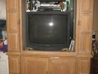 Used Lexington Solid Wood Entertainment Cabinet.