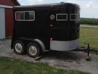 Miley two Horse straight load trailer for sale. It has