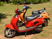 Two 2007 150cc Diamo/Roketa Chinese scooters. $1500.00