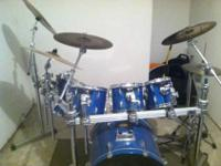 I am selling a Pearl export drum kit, sizes are 8 10 12