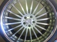 I have a set of 22 inch Vellano 3 Piece rims... Brushed