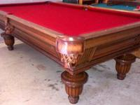 Golden West 8' Pro Union League Pool Table Like new