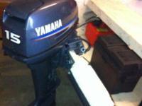 Mechanically like new 15hp Yamaha outboard. Runs well!