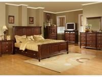 The warm brown cherry finish is fit for royalty and