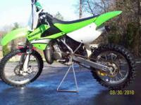 2007 KX100 2 Stroke dirt bike is in great condition.