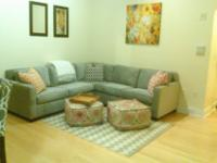 I am selling a light grey velvet sectional sofa from