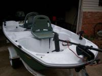 Very Nice Like New Pelican two man boat , 10 feet. 3 ""