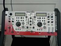 (A) Pyle professional d.j mixer with 2 channel mixer