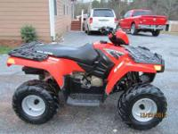 UP FOR SELL IS A 2009 POLARIS SPORTSMAN 90.IT IS IN