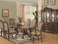 7 piece table and chair combination as the focal point