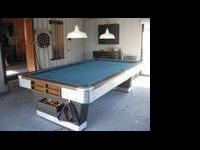 I HAVE 1 ANTIQUE 9ft VICTOR BILLIARDS CO. 1&1/4 in