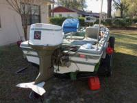 23 ave 1975 ORIGINAL RANGER BASS FIBER GLASS BOAT
