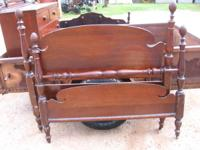 ANTIQUE POSTER BED W / WOOD RAIL 1- 129.00  We have