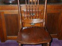Antique Press-back Chair I have for sale a very sturdy,