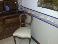 1 Antique Rosewood Chair that has been redone and for