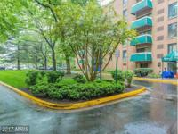Spacious one bedroom unit on 5th floor, facing trees,