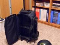 Brunswick 2 ball bag with wheels. 1 Zone 16 lbs.