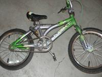 1) bike is 3 years old  Surge brand nice silver and
