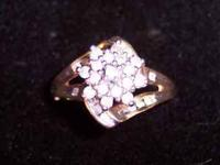 Diamond Cluster Ring - I was told, when I bought this,