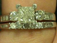 1 CT TOTAL WEIGHT BRIDAL SET FOR SALE:  $1,700