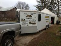 Selling my trailer it is a V nose 28 feet long. just