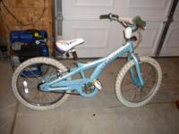 "1 girls shwinn 20"" bike. It is in good shape. We are"
